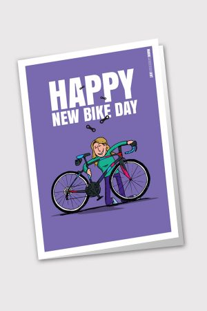 Happy new bike day card