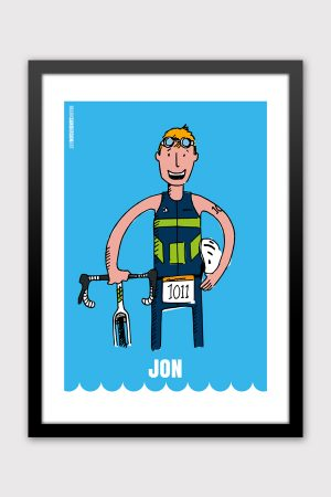 Iron Man triathlon custom illustration