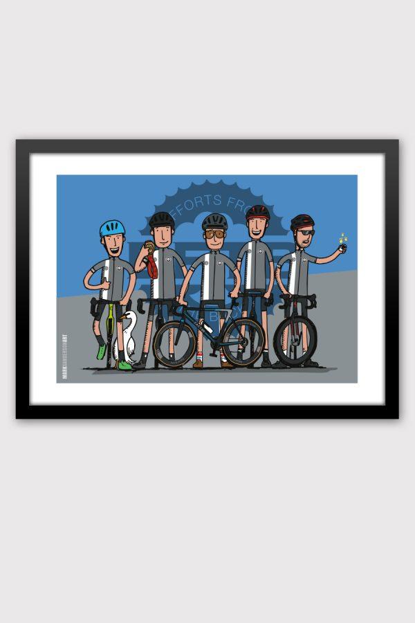 Cycling club team illustration