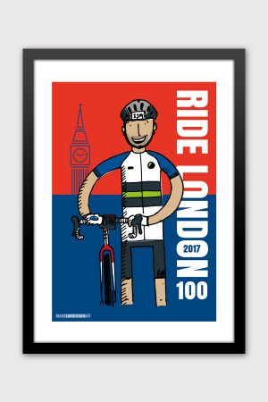 Ride London custom cycling event illustration