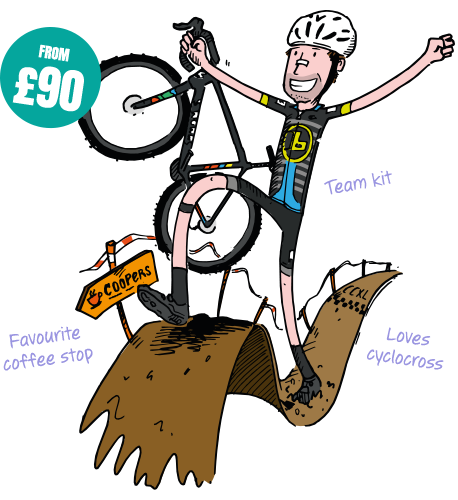 Custom cyclocross illustration